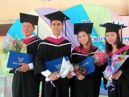 Hseng Lake, Tee Hseng, Nanta Boon and Warlu | Tee Hseng Graduated | Koung Jor Shan Refugee Camp