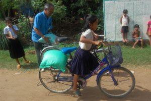 kako girl on bike